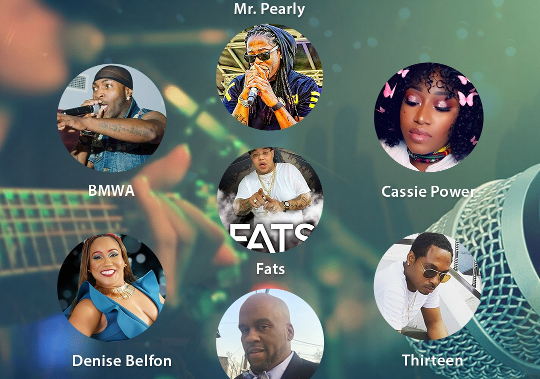 Dlife Live Artist Riddim Session in the FRPTV Studio - BMWA - MR Pearly - Fats - Denise Belfon - Lee Major - Thirteen - Cassie Power